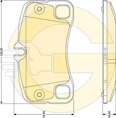 6117929 Колодки тормозные PORSCHE 911 3.6-3.8 06- задние