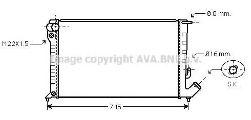 CNA2153 Радиатор CITROEN BERLINGO 1.8D/1.9D 98-