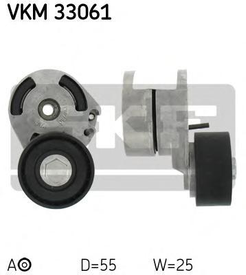 VKM33061 Ролик натяжной поликлинового ремня Citroen. Peugeot 1.4HDI-1.6HDI 01