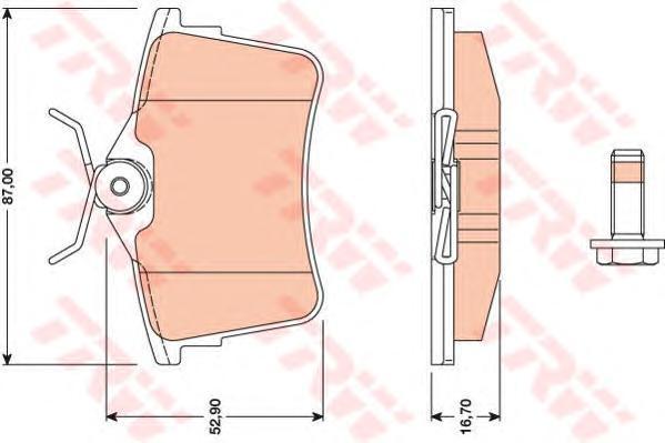 GDB1799 Колодки тормозные CITROEN BERLINGO 08-/PEUGEOT 308 07-/PARTNER 08- задние