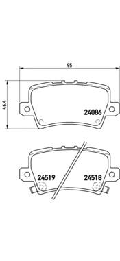 P28038 Колодки тормозные HONDA CIVIC VIII Hatchback 06- задние