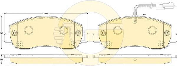 6119109 Колодки тормозные OPEL MOVANO/RENAULT MASTER 10- передние