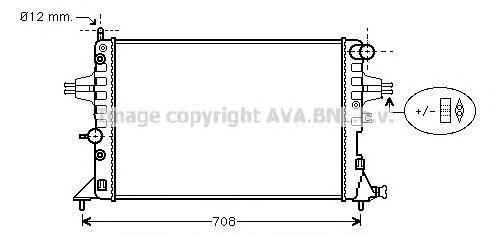 OLA2254 Радиатор OPEL ASTRA G 1.4-2.2 A/T 98-06