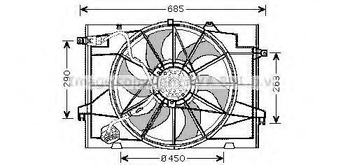 HY7520 Вентилятор радиатора HYUNDAI TUCSON 2.7 04-