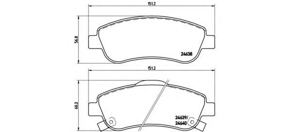 P28045 Колодки тормозные HONDA CR-V III 07- передние