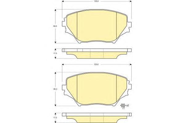 6132519 Колодки тормозные TOYOTA RAV4 II 00-06 передние