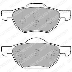 LP1862 Колодки тормозные HONDA ACCORD 2.0/2.2/2.4 03 передние