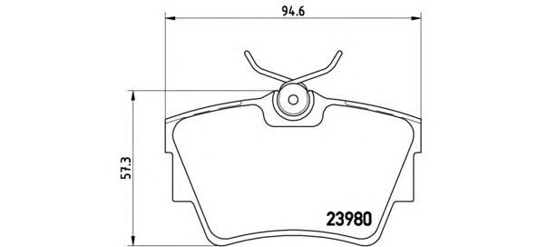 P59041 Колодки тормозные NISSAN PRIMASTAR 01-/OPEL VIVARO 01-/RENAULT TRAFIC 01- задние