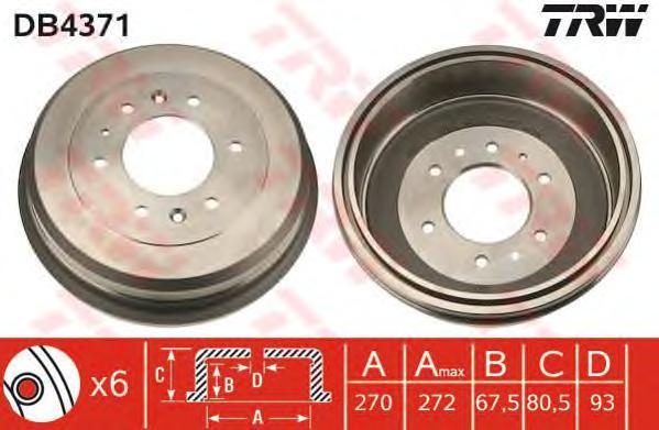 DB4371 Барабан тормозной FORD RANGER/MAZDA B-SERIE 99-