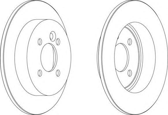 DDF1128 Диск тормозной MINI COOPER/ONE/CLUBMAN задний D=259мм.