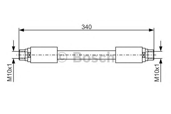 1987481301 Шланг тормозной AUDI A6 04- 340мм передний