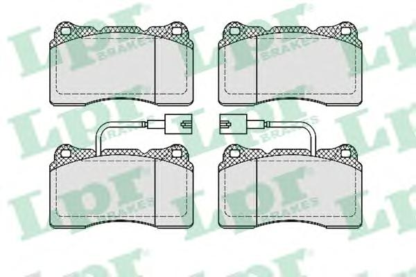 05P674 Колодки тормозные ALFA ROMEO 159/166/BRERA/SPIDER передние