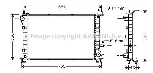 FD2265 Радиатор FORD FOCUS 2.0/1.8TD 98-05