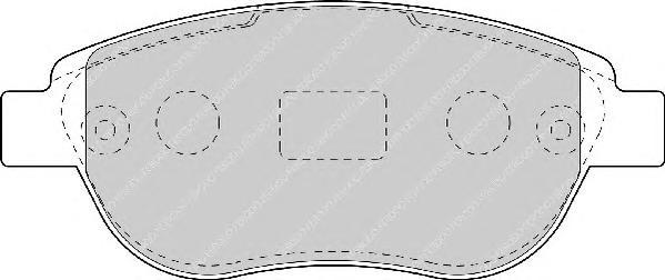 FDB1476 Колодки тормозные CITROEN C4/BERLINGO/FIAT DOBLO/PEUGEOT 307/PARTNER передние