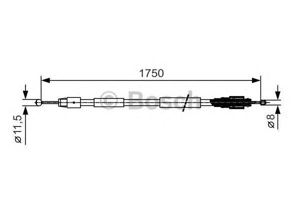 1987482018 Трос ручного тормоза VW TOUAREG -10 1750мм