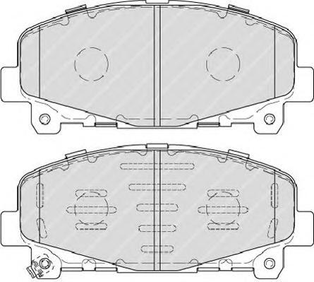 FDB4270 Колодки тормозные HONDA ACCORD 2.0/2.4 АКПП 08- передние