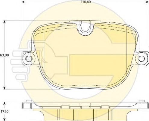 6118241 Колодки тормозные LAND ROVER RANGE ROVER III/SPORT 5.0 09- задние