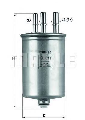 KL506 Фильтр топливный RANGE ROVER 2.7 TD 04-