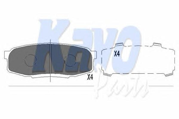 KBP9099 Колодки тормозные TOYOTA LAND CRUISER J200 4.5D/4.7 07-/LEXUS LX570 08- задние