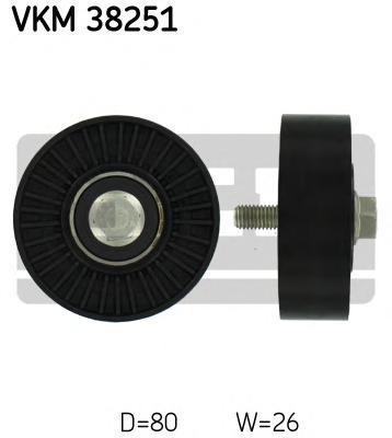 VKM38251 Ролик приводного ремня BMW E60/E90 2.5i-3.5i N52B25/30 05