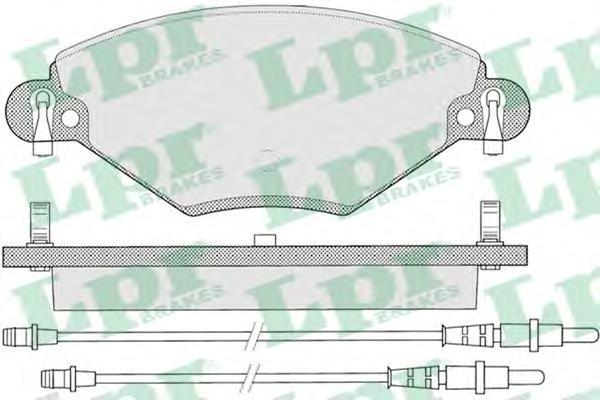 05P793 Колодки тормозные CITROEN C5 1.6D/2.0D/1.8/2.0 01- передние