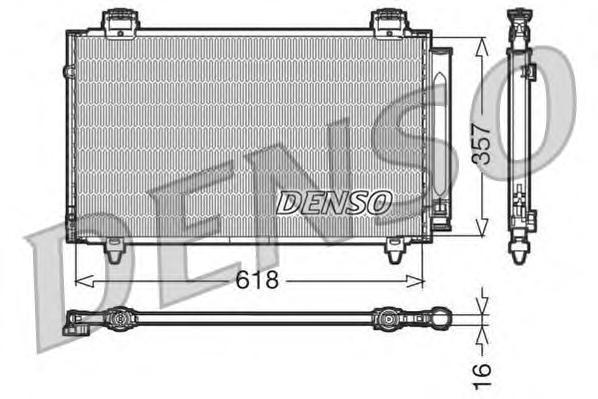 DCN50004 Конденсатор TO Corolla 01.02-