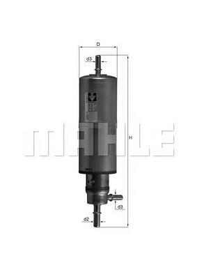 KL437 Фильтр топливный MB W163 ML230-ML55 -9/00