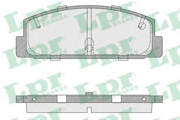 05P336 Колодки тормозные MAZDA RX 7 92/MAZDA 323 1.8 T/626 9194 задние