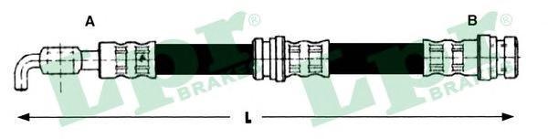 6T48216 Шланг тормозной MITSUBISHI CARISMA 95-06 задн.лев/прав