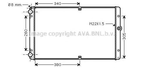 VWA2245 Радиатор VW T4 2.5TD M/T 98-03