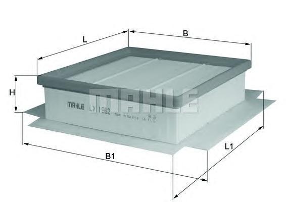 LX1982 Фильтр воздушный OPEL CORSA D 1.6/1.3D/1.7D 06-