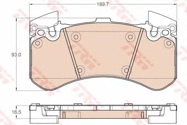 GDB1976 Колодки тормозные AUDI A8 (1LN) 09- передние