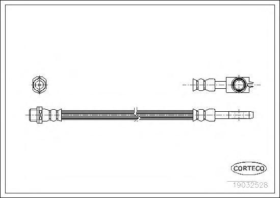 19032528 Шланг тормозной Re VW Passat 96-00 190мм