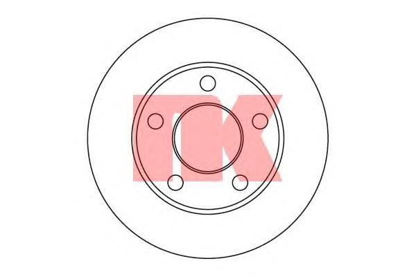 204744 Диск тормозной задний / AUDI-100, A-6;SKODA Superb, VW Passat-V ( 10-245 ) 90~