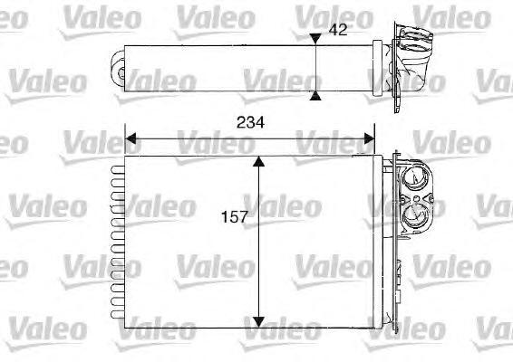 812215 Радиатор отопителя CITROEN: C5 (DC_) 1.8 16V (DC6FZB, DC6FZE)/2.0 16V (DCRFNC, DCRFNF)/2.0 16V HPi (DCRLZB)/2.0 HDi (DCRH
