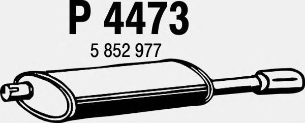 P4473 Глушитель OPEL ASTRA F 1.8 93-98