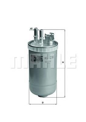 KL230 Фильтр топливный FORD: MONDEO III 00-, MONDEO III седан 00-, MONDEO III универсал 00-