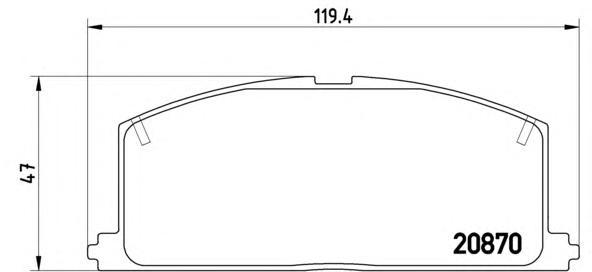 P83011 Колодки тормозные TOYOTA CAMRY/CARINA/COROLLA 83-92 передние