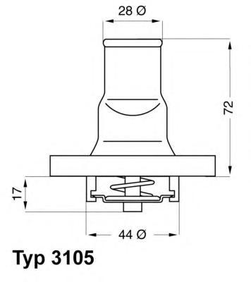 310587D Термостат FIAT PANDA/PUNTO 1.1-1.4 99-