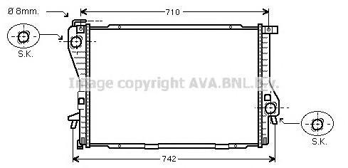 BWA2233 Радиатор BMW E39 2.0-3.0 99-