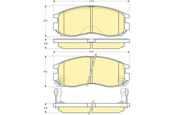 6131339 Колодки тормозные MITSUBISHI GALANT/LANCER 1.8-2.0 88-00 передние