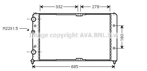 VWA2191 Радиатор VAG CADDY 1.4/1.9D 95-05