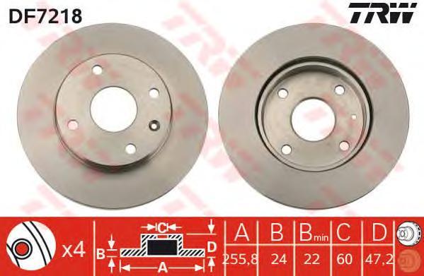 DF7218 Диск тормозной CHEVROLET LACETTI/EPICA/REZZO передний вент.