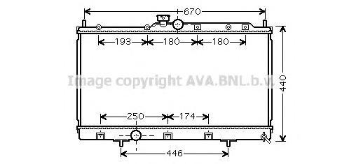 MTA2199 Радиатор MITSUBISHI LANCER 1.3-2.0 03-