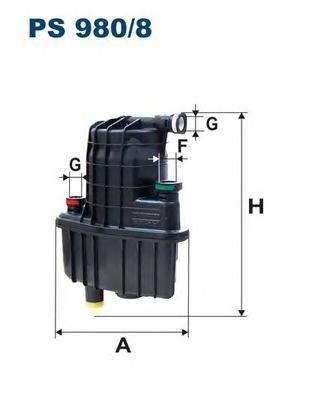 PS9808 Фильтр топливный RENAULT MODUS/CLIO 1.5 DCI 04-