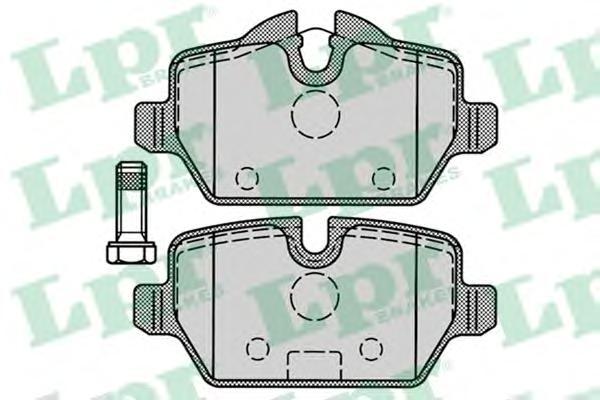 05P1249 Колодки тормозные BMW E81/E87/E90 1.6-2.0 04- задние