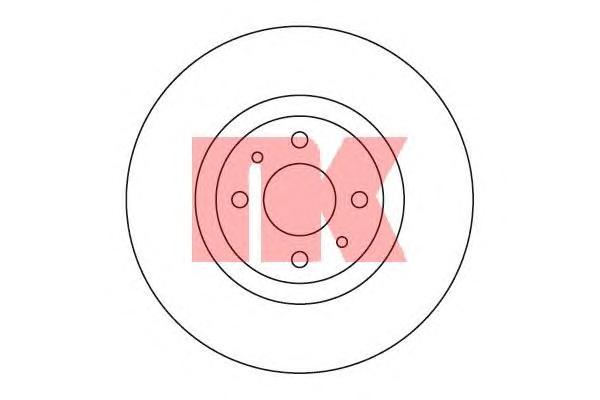 209923 Диск тормозной FIAT 500 08-/BRAVO 07-/DOBLO 01-/STILO 01- передний