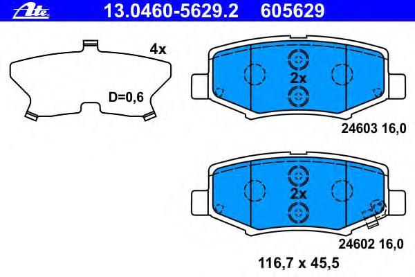 13046056292 Колодки тормозные дисковые задн, JEEP: CHEROKEE 2.8 CRD 4WD/2.8 CRDi 4WD/3.7 V6/3.7 V6 4WD 08-, WRANGLER II 2.8 CRDi