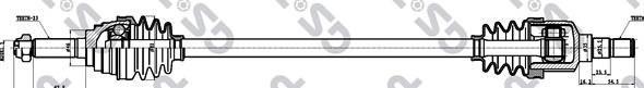 208059 Привод в сборе DAEWOO MATIZ 0.8 98- прав. -ABS