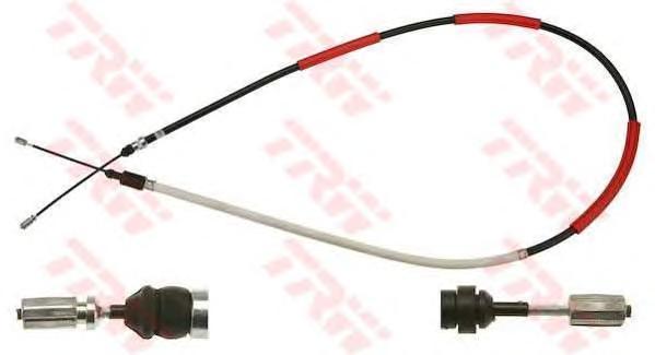 GCH1318 Трос ручного тормоза PEUGEOT 306 задний прав.(диск.торм.)